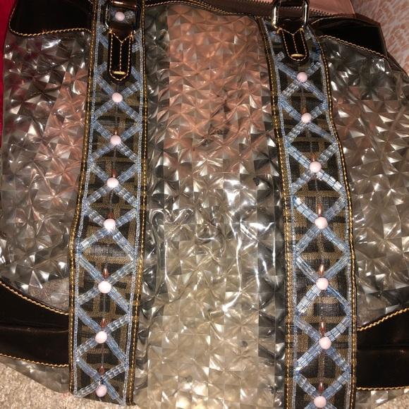 2d0242ec2f30 Fendi Handbags - Fendi gologo large transparent bag